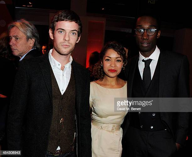 Harry Treadaway Antonia Thomas and Nathan StewartJarrett attend the Moet Reception at the Moet British Independent Film Awards 2013 at Old...
