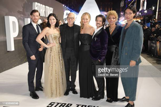 Harry Treadaway Isa Briones Sir Patrick Stewart Jeri Ryan Jonathan Del Arco Michelle Hurd and Evan Evagora attend the European Premiere of Amazon...