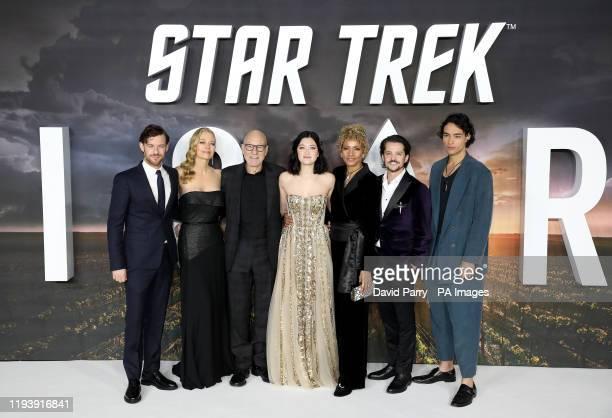 Harry Treadaway Jeri Ryan Sir Patrick Stewart Isa Briones Michelle Hurd Jonathan Del Arco and Evan Evagora attending the Star Trek Picard Premiere...