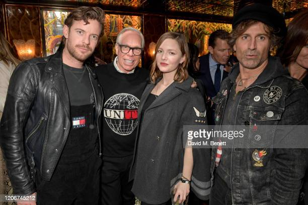 Harry Treadaway Tommy Hilfiger Holiday Grainger and guest attend the TOMMYNOW after party at Annabels on February 16 2020 in London England