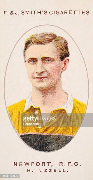 Harry Uzzell of Newport RFC featured on a vintage cigarette card published in London circa 1917