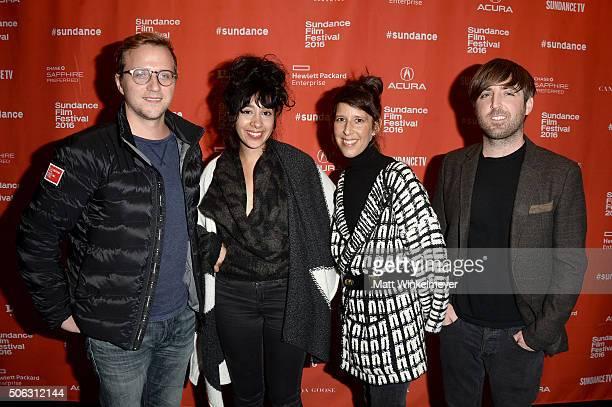 """Harry Vaughn, Associate Programmer, Sundance Film Festival, producer Taira Akbar, co-directors Mathew Orzel and Heidi Brandenburg attend the """"When..."""