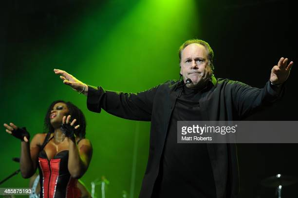 Harry Wayne Casey of KC and The Sunshine Band performs live for fans at the 2014 Byron Bay Bluesfest on April 21 2014 in Byron Bay Australia