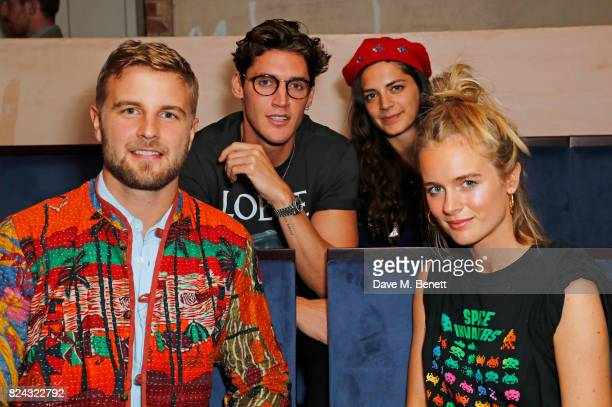 Harry WentworthStanley Isaac Carew Caroline Sharp and Cressida Bonas attend Krug Festival Into The Wild at The Grange Hampshire on July 29 2017 in...