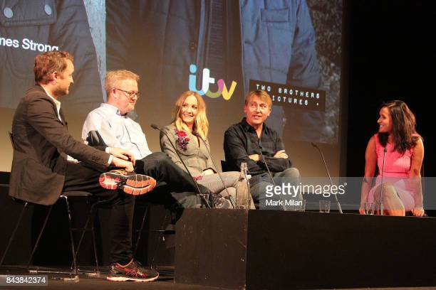 Harry Williams Jack Williams Joanne Froggatt James Strong and Nina Hossain attends the preview of ITV drama 'Liar' at BFI Southbank on September 7...