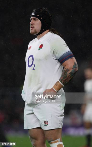 Harry Williams looks on during the Old Mutual Wealth Series international match between England and Australia at Twickenham Stadium on November 18...