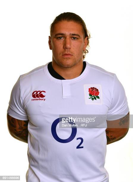 Harry Williams of England poses for a portrait during the Argentina Tour Squad photo call at Twickenham Stadium on June 2 2017 in London England