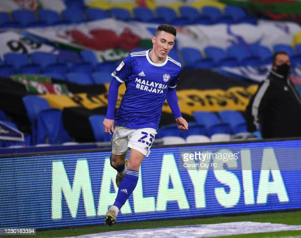 Harry Wilson during the Sky Bet Championship match between Cardiff City and Birmingham City at Cardiff City Stadium on December 16, 2020 in Cardiff,...