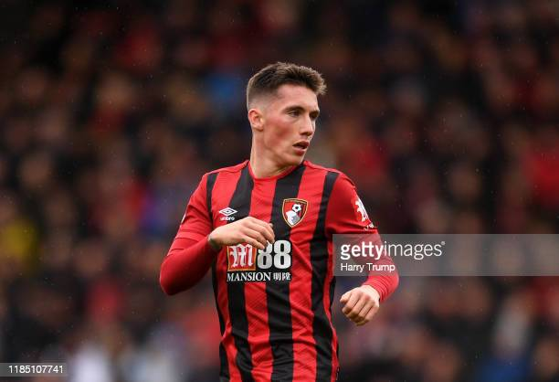 Harry Wilson of AFC Bournemouth during the Premier League match between AFC Bournemouth and Manchester United at Vitality Stadium on November 02,...