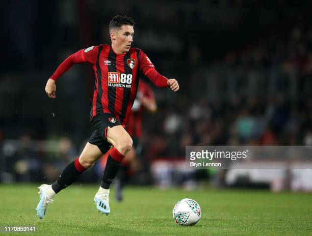 Harry Wilson of AFC Bournemouth in action during the Carabao Cup Second Round match between AFC Bournemouth and Forest Green Rovers at Vitality...