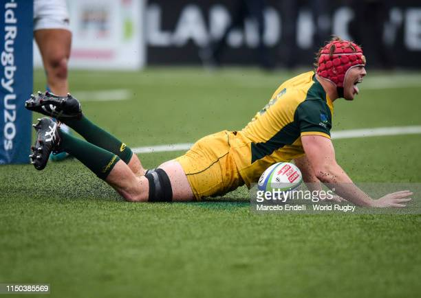 Harry Wilson of Australia U20 scores a try during a Semi Final match between Argentina U20 and Australia U20 as part of World Rugby U20 Championship...