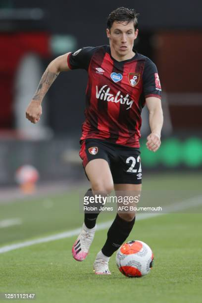 Harry Wilson of Bournemouth during the Premier League match between AFC Bournemouth and Crystal Palace at Vitality Stadium on June 20 2020 in...