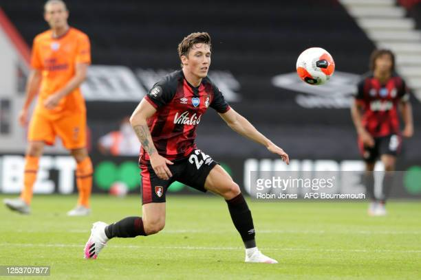 Harry Wilson of Bournemouth during the Premier League match between AFC Bournemouth and Newcastle United at Vitality Stadium on July 01 2020 in...