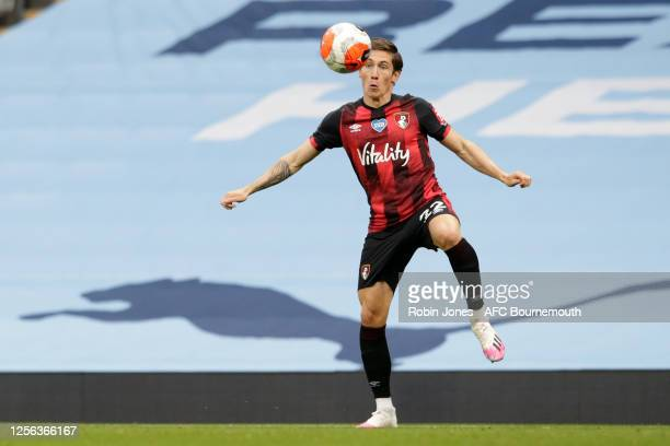 Harry Wilson of Bournemouth during the Premier League match between Manchester City and AFC Bournemouth at Etihad Stadium on July 15 2020 in...