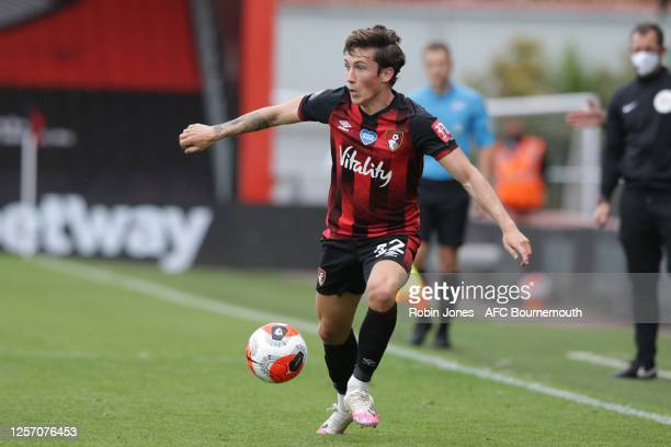 Harry Wilson of Bournemouth during the Premier League match between AFC Bournemouth and Southampton FC at Vitality Stadium on July 19 2020 in...