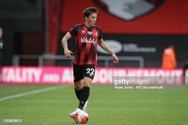 Harry Wilson of Bournemouth of Bournemouth with the ball during the Premier League match between AFC Bournemouth and Newcastle United at Vitality...