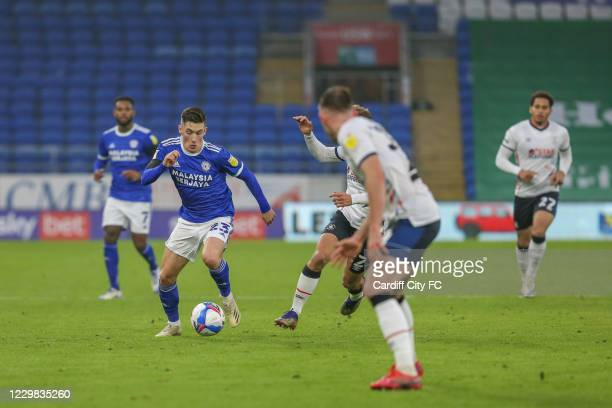 Harry Wilson of Cardiff City FC during the Sky Bet Championship match between Cardiff City and Luton Town at Cardiff City Stadium on November 28,...