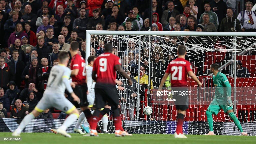 Manchester United v Derby County - Carabao Cup Third Round : Nachrichtenfoto