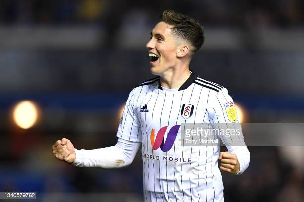 Harry Wilson of Fulham celebrates after scoring their side's third goal during the Sky Bet Championship match between Birmingham City and Fulham at...