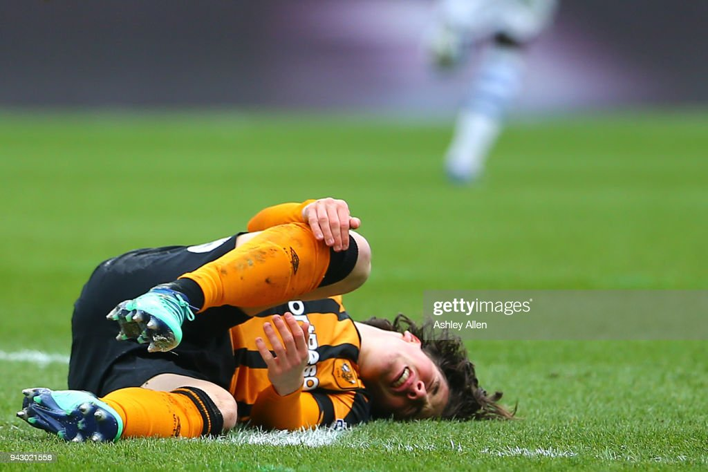 Harry Wilson of Hull City reacts during the Sky Bet Championship match between Hull City and Queens Park Rangers at KCOM Stadium on April 7, 2018 in Hull, England.