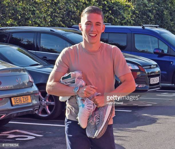 Harry Wilson of Liverpool arrives at Melwood Training Ground on July 8 2017 in Liverpool England