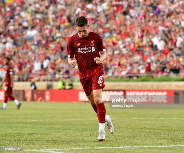 Harry Wilson of Liverpool celebrates after scoring a goal during the pre-season friendly match between Borussia Dortmund and Liverpool FC at Notre...