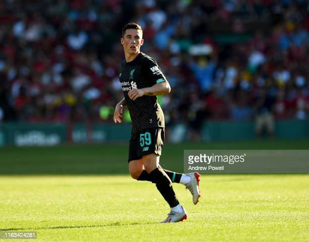 Harry Wilson of Liverpool during a PreSeason Friendly match between Sevilla and Liverpool at Fenway Park on July 21 2019 in Boston Massachusetts