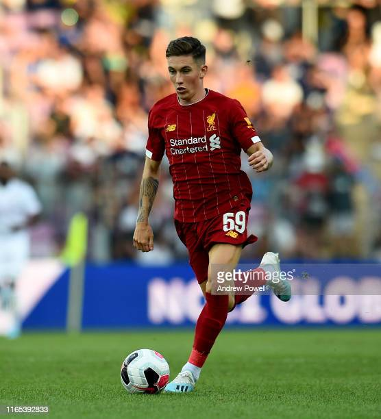 Harry Wilson of Liverpool during the PreSeason Friendly match between Liverpool and Olympique Lyonnais at Stade de Geneve on July 31 2019 in Geneva...