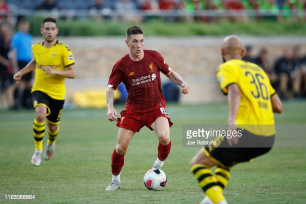 Harry Wilson of Liverpool FC controls the ball against Borussia Dortmund in the first half of the preseason friendly match at Notre Dame Stadium on...