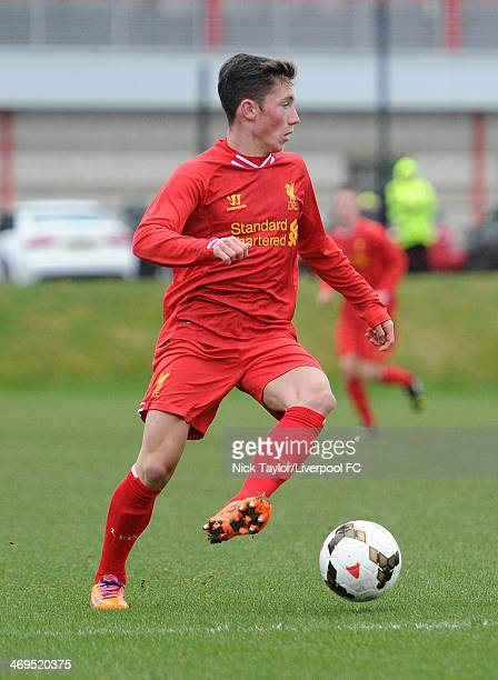 Harry Wilson of Liverpool in action during the Barclays Premier League Under 18 fixture between Liverpool and Sunderland at the Liverpool FC Academy...