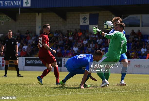 Harry Wilson of Liverpool scores the opening goal during the Preseason friendly between Chester FC and Liverpool on July 7 2018 in Chester United...