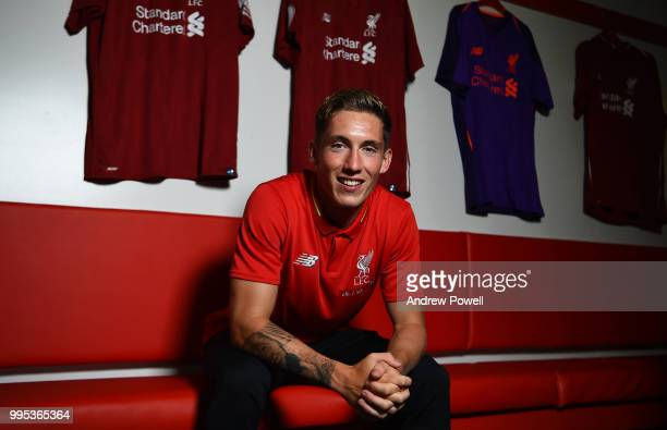 Harry Wilson signing a contract extension for Liverpool FC on July 10 2018 in Liverpool England