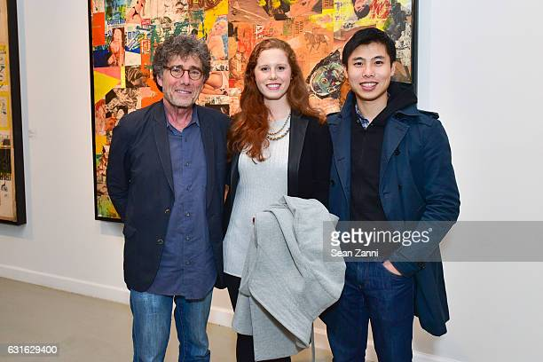 Harry Winer Rose Winer and Kelvin Chan attend Westwood Gallery NYC Celebrates Exhibition Opening for Boris Lurie Life After Death at Westwood Gallery...