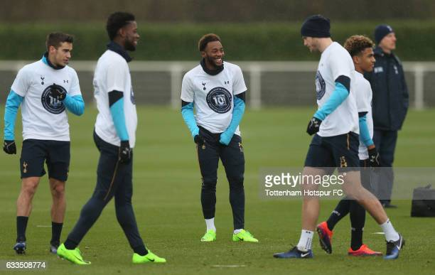Harry Winks, Josh Onomah, Georges-Kévin N'Koudou, Eric Dier and Marcus Edwards of Tottenham during the Tottenham Hotspur training session at...