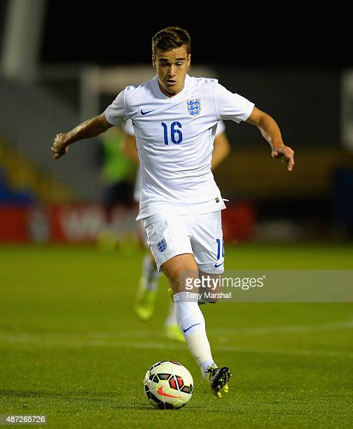 Harry Winks of England during the International Match between England U20 and Czech Republic U20 at Greenhous Meadow on September 7 2015 in...