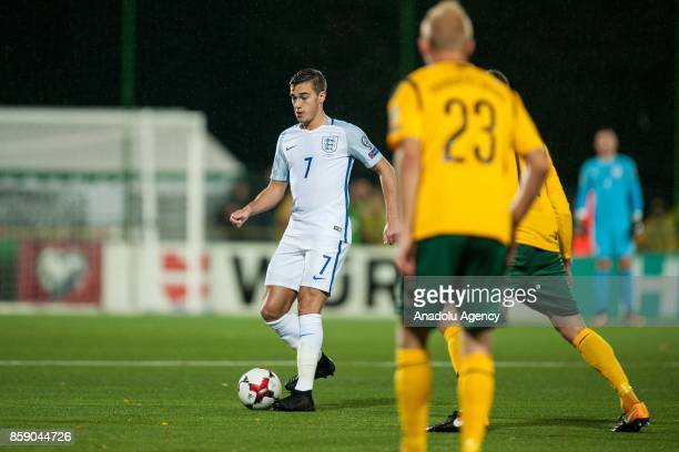 Harry Winks of England in action during the 2018 FIFA World Cup European Qualification football match between England and Lithuania at LFF Stadium in...