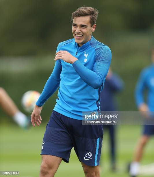 Harry Winks of Tottenham during the Tottenham Hotspur training session at Tottenham Hotspur Training Centre on September 21 2017 in Enfield England