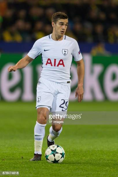 Harry Winks of Tottenham Hotspur controls the ball during the UEFA Champions League group H match between Borussia Dortmund and Tottenham Hotspur at...