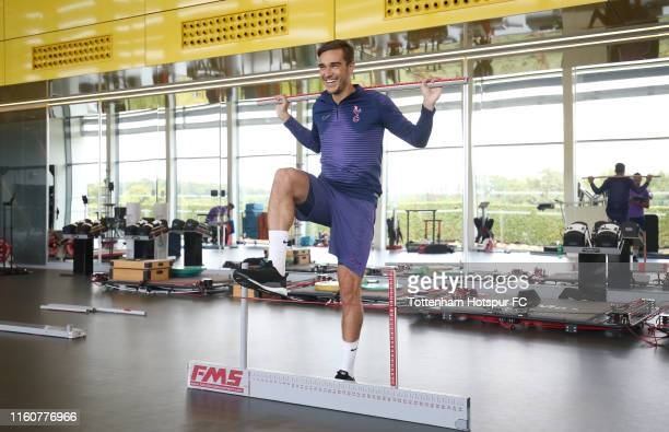 Harry Winks of Tottenham Hotspur during a preseason gym session at Tottenham Hotspur Training Centre on July 08 2019 in Enfield England
