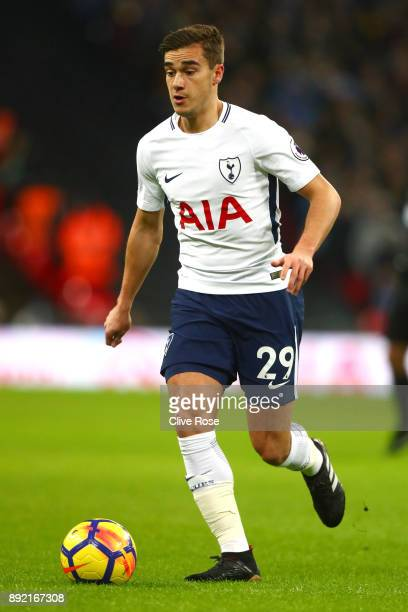 Harry Winks of Tottenham Hotspur during the Premier League match between Tottenham Hotspur and Brighton and Hove Albion at Wembley Stadium on...