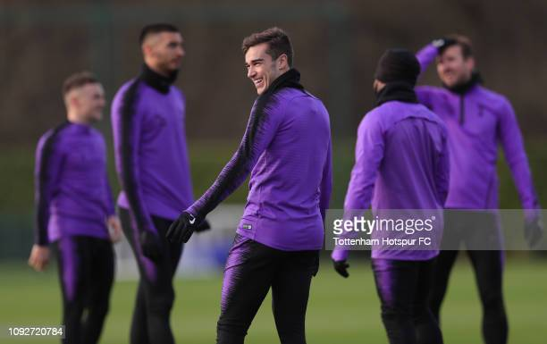 Harry Winks of Tottenham Hotspur during the Tottenham Hotspur training session at Tottenham Hotspur Training Centre on January 11 2019 in Enfield...