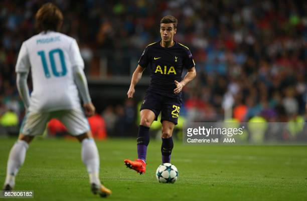 Harry Winks of Tottenham Hotspur during the UEFA Champions League group H match between Real Madrid and Tottenham Hotspur at Estadio Santiago...