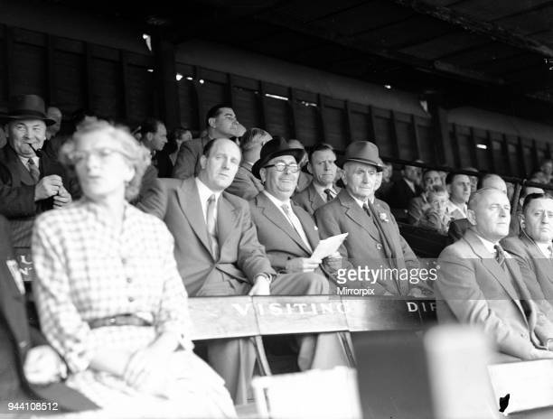 Harry Zussman, Chairman Leyton Orient Football Club, attends league match at Brisbane Road, Saturday 10th September 1955, League Match. Division 3....