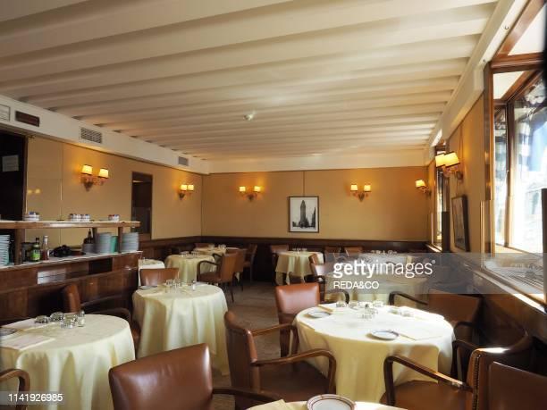 Harry's Bar restaurant. Upper room. Venice. Veneto. Italy. Europe.
