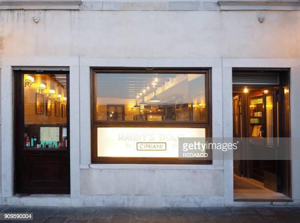 Harry's Dolci bar and restaurant. Giudecca sestiere. Venice. Veneto. Italy. Europe.
