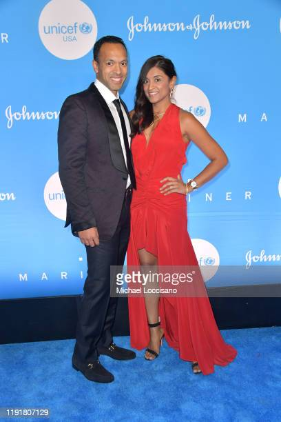 Harsh Padia and Purvi Padia at the 15th Annual UNICEF Snowflake Ball 2019 at 60 Wall Street Atrium on December 03 2019 in New York City
