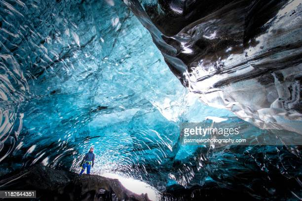 harsh winter in iceland - jökulsárlón glacier lagoon - バトナ氷河 ストックフォトと画像