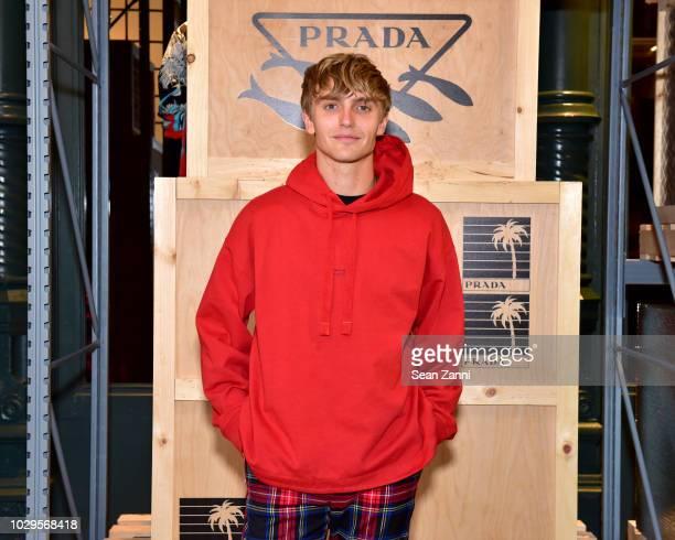 Hart Denton attends the Prada Linea Rossa event at Prada Broadway NY on Sept 8 2018