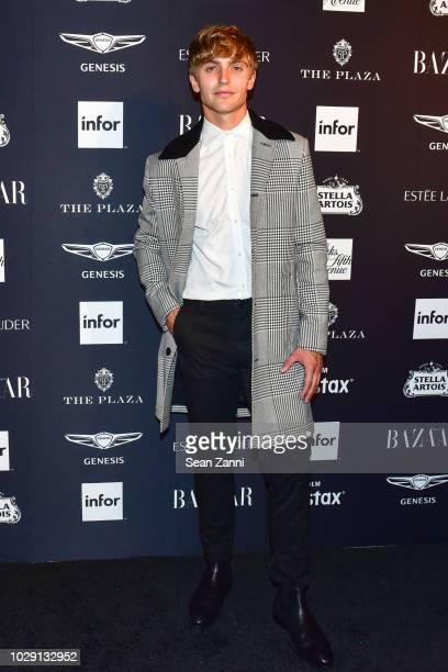Hart Denton attends The Worldwide Editors Of Harper's Bazaar Celebrate ICONS by Carine Roitfeld presented by Infor Stella Artois FUJIFILM Estee...