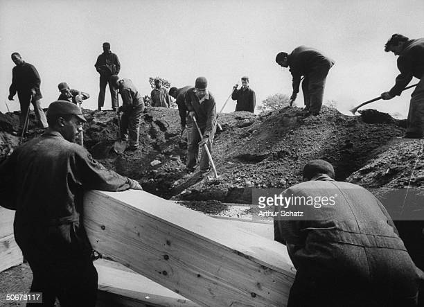 Hart Island prisoners burying Bowery men in wooden coffins who were poisoned by drinking woodalcohol